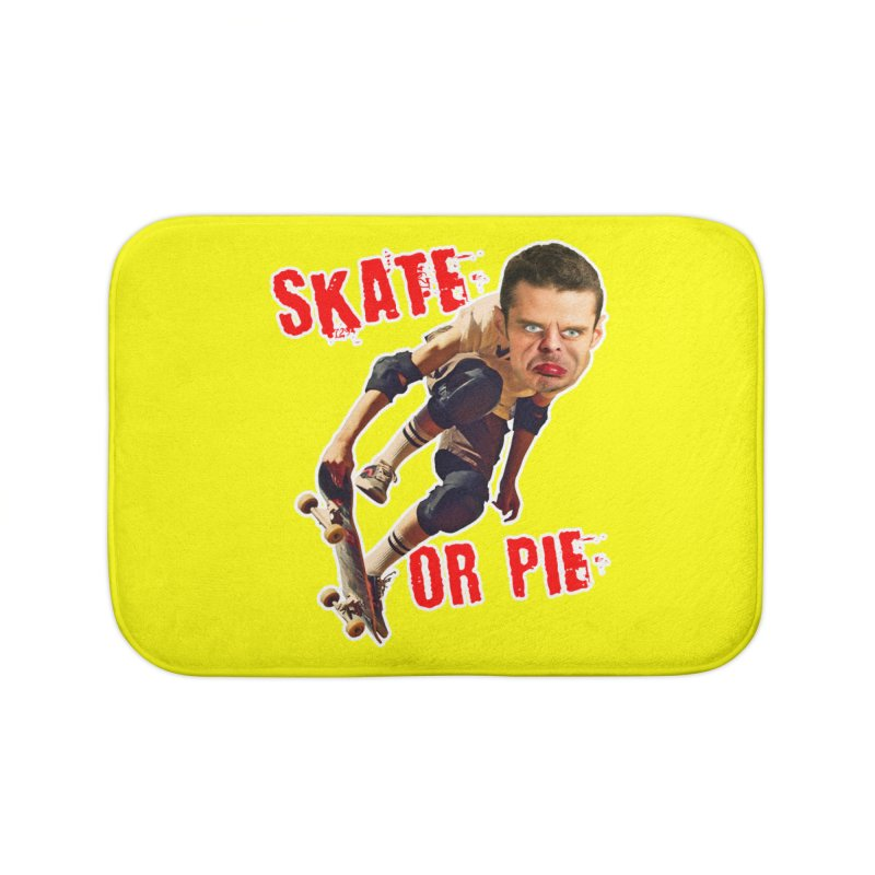 Skate or Pie Home Bath Mat by The Rake & Herald Online Clag Emporium