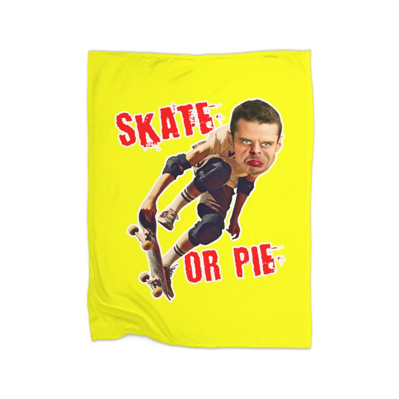 Skate or Pie Home Fleece Blanket Blanket by The Rake & Herald Online Clag Emporium
