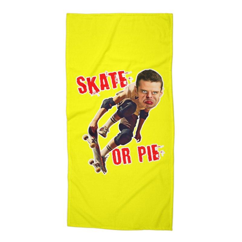 Skate or Pie Accessories Beach Towel by The Rake & Herald Online Clag Emporium