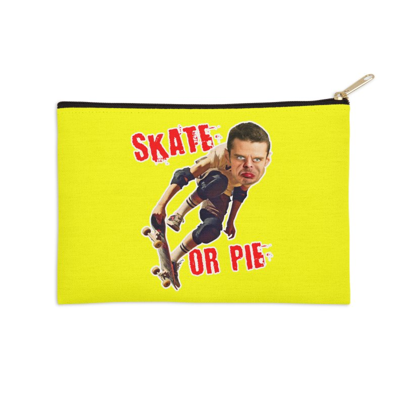 Skate or Pie Accessories Zip Pouch by The Rake & Herald Online Clag Emporium