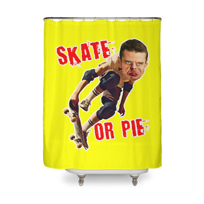 Skate or Pie Home Shower Curtain by The Rake & Herald Online Clag Emporium