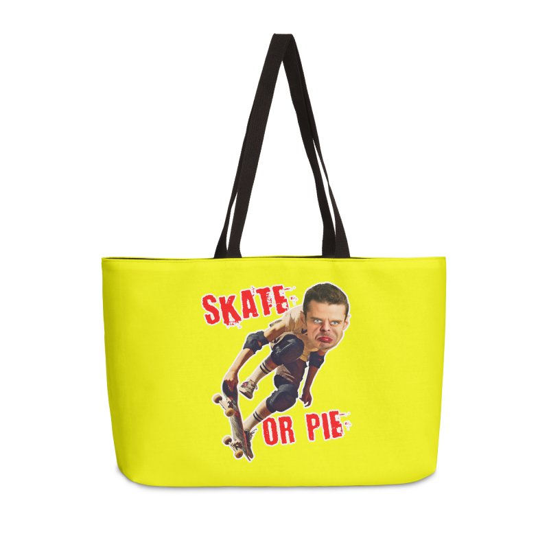 Skate or Pie Accessories Weekender Bag Bag by The Rake & Herald Online Clag Emporium