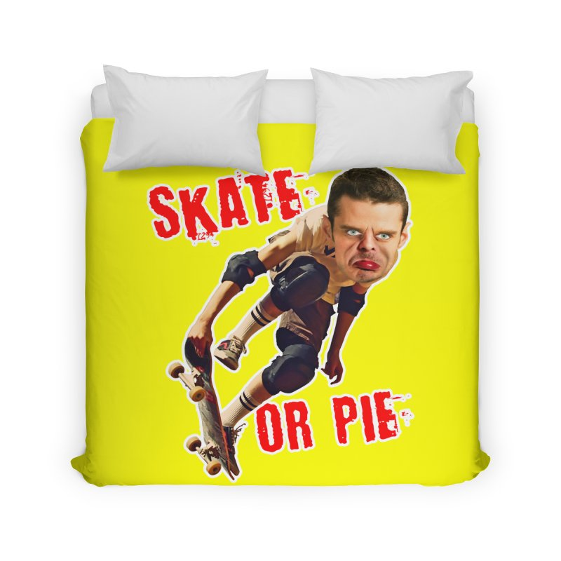 Skate or Pie Home Duvet by The Rake & Herald Online Clag Emporium