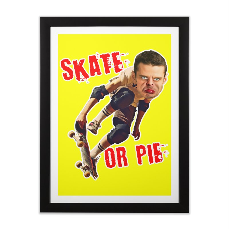 Skate or Pie Home Framed Fine Art Print by The Rake & Herald Online Clag Emporium