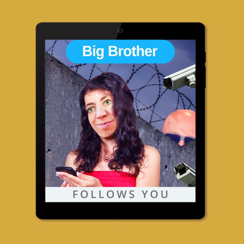 Big Brother Follows You by The Rake & Herald Online Clag Emporium