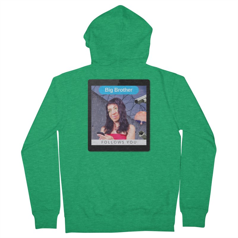 Big Brother Follows You Women's Zip-Up Hoody by The Rake & Herald Online Clag Emporium
