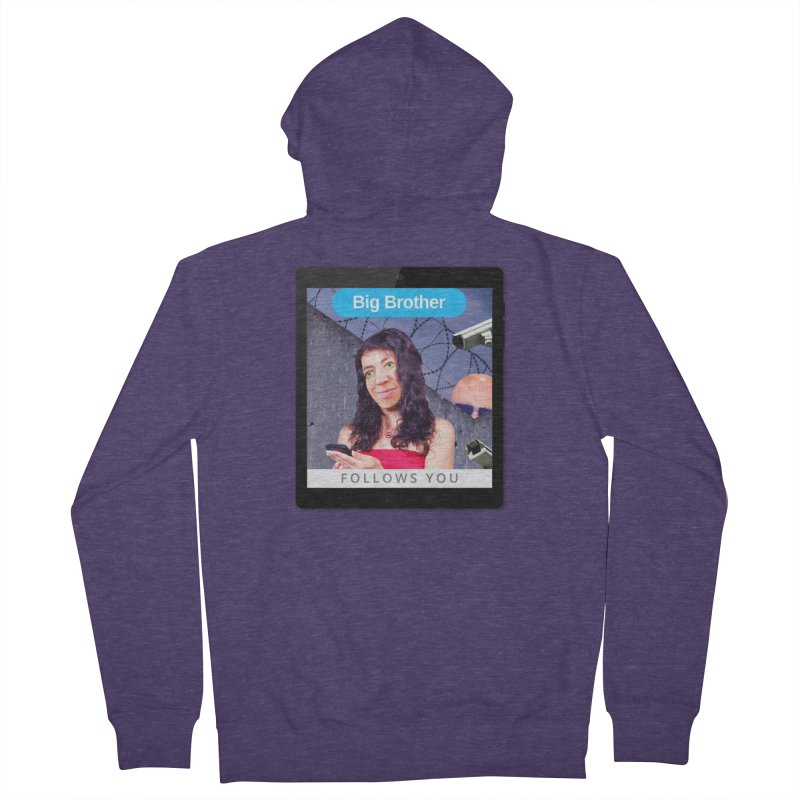 Big Brother Follows You Men's Zip-Up Hoody by The Rake & Herald Online Clag Emporium