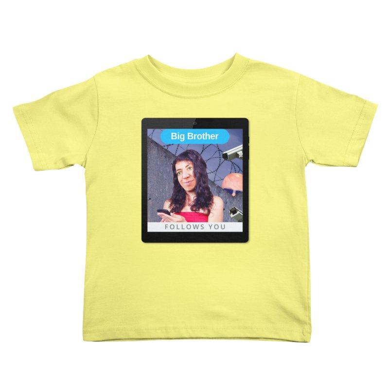 Big Brother Follows You Kids Toddler T-Shirt by The Rake & Herald Online Clag Emporium