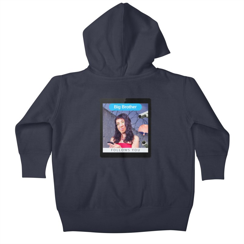 Big Brother Follows You Kids Baby Zip-Up Hoody by The Rake & Herald Online Clag Emporium