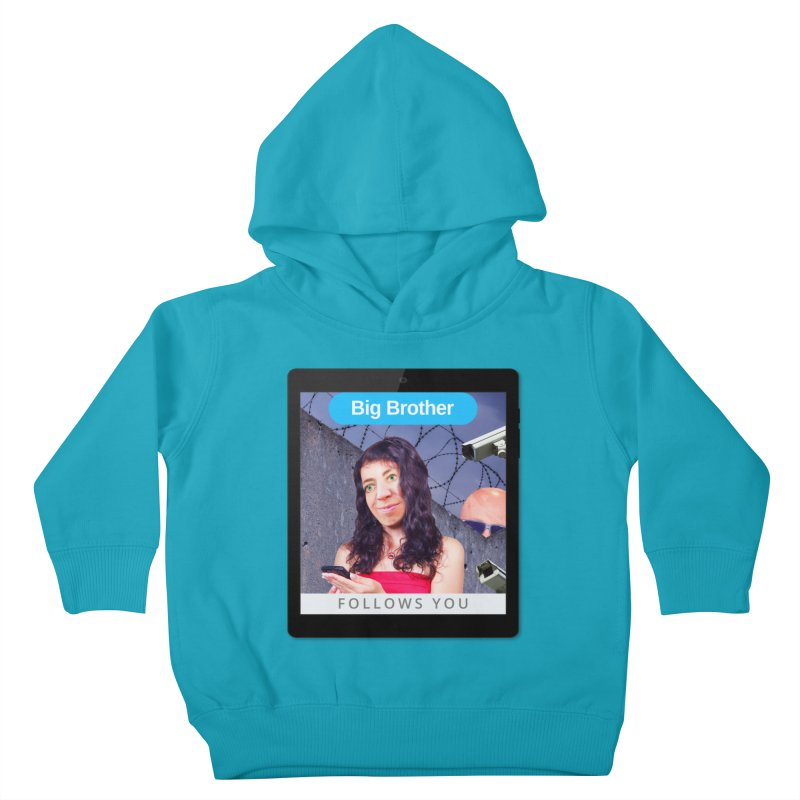 Big Brother Follows You Kids Toddler Pullover Hoody by The Rake & Herald Online Clag Emporium