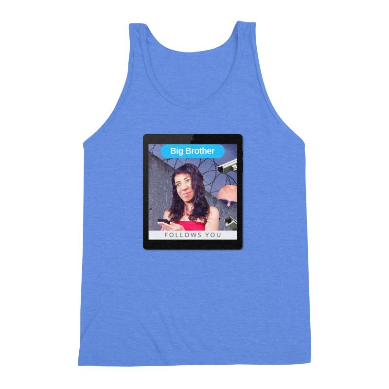 Big Brother Follows You Men's Triblend Tank by The Rake & Herald Online Clag Emporium