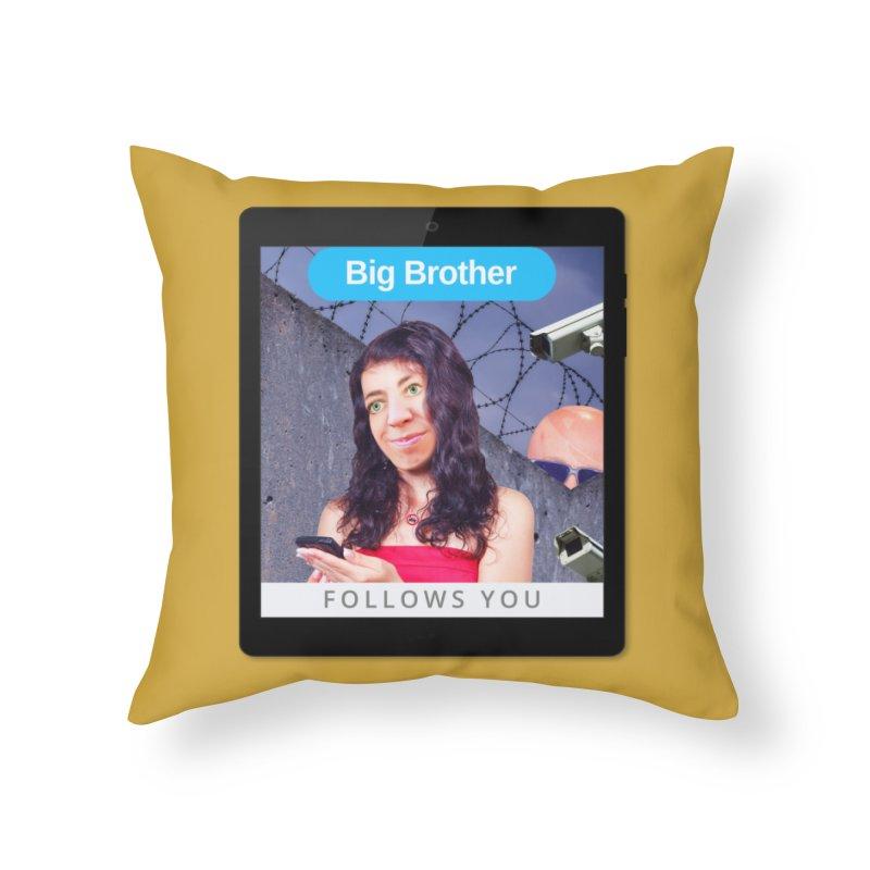 Big Brother Follows You Home Throw Pillow by The Rake & Herald Online Clag Emporium