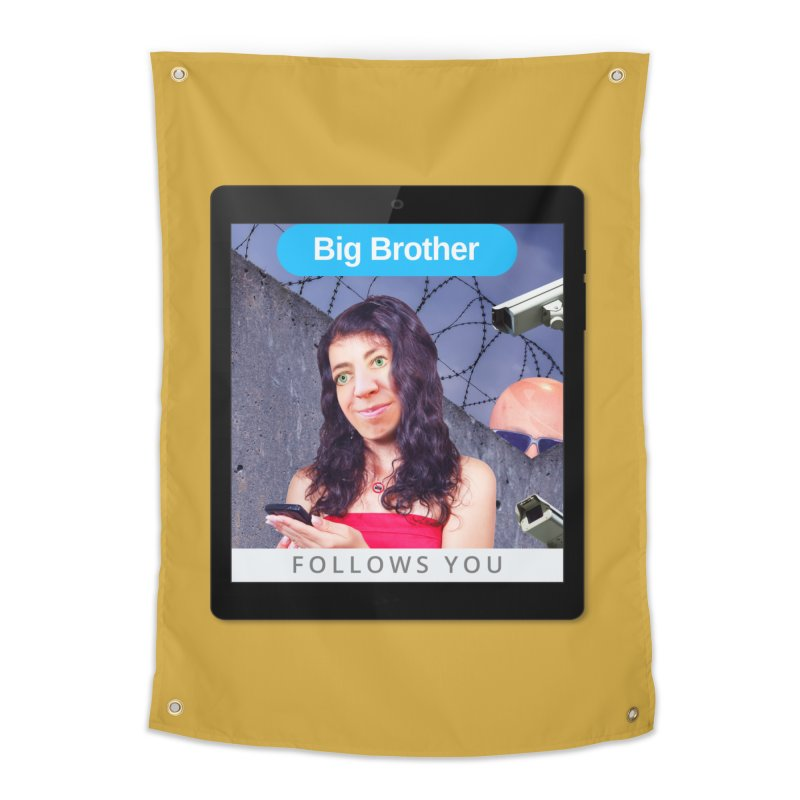Big Brother Follows You Home Tapestry by The Rake & Herald Online Clag Emporium