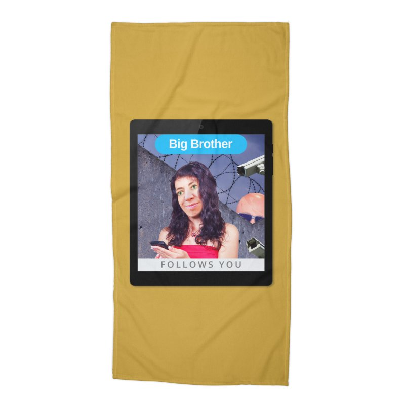 Big Brother Follows You Accessories Beach Towel by The Rake & Herald Online Clag Emporium