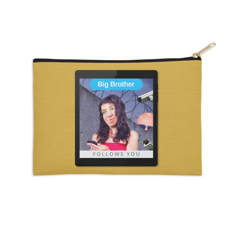 Big Brother Follows You Accessories Zip Pouch by The Rake & Herald Online Clag Emporium