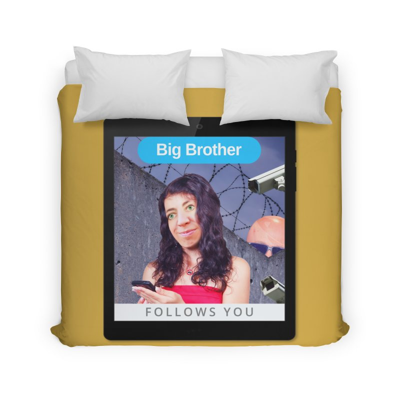 Big Brother Follows You Home Duvet by The Rake & Herald Online Clag Emporium