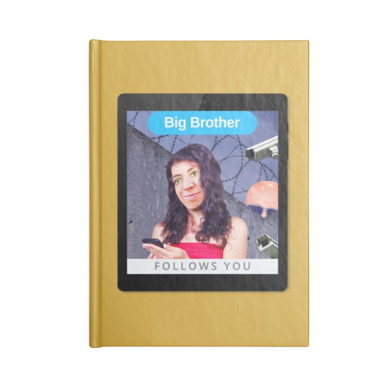 Big Brother Follows You Accessories Notebook by The Rake & Herald Online Clag Emporium