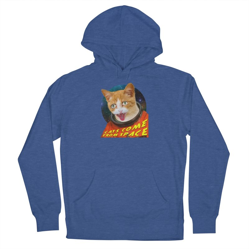 Cats Come From Space Men's French Terry Pullover Hoody by The Rake & Herald Online Clag Emporium