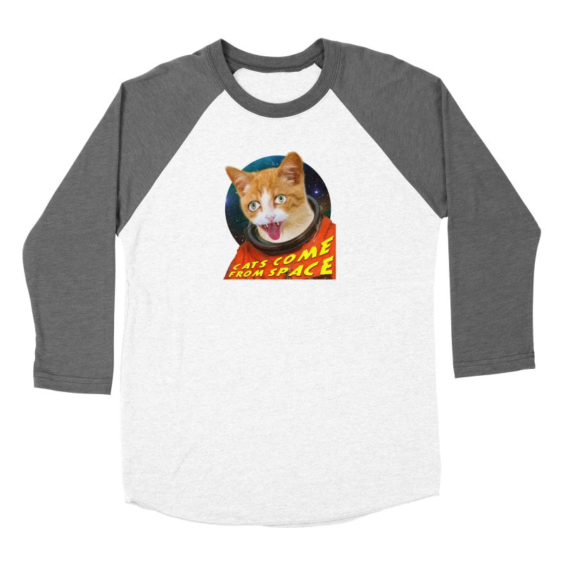 Cats Come From Space Women's Baseball Triblend Longsleeve T-Shirt by The Rake & Herald Online Clag Emporium