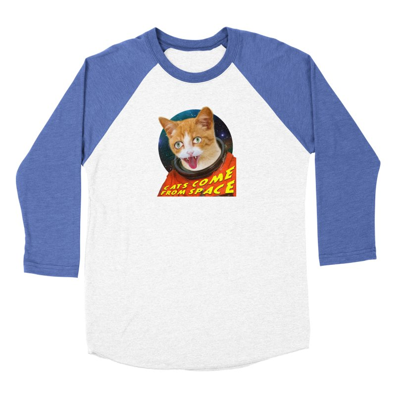 Cats Come From Space Men's Baseball Triblend Longsleeve T-Shirt by The Rake & Herald Online Clag Emporium