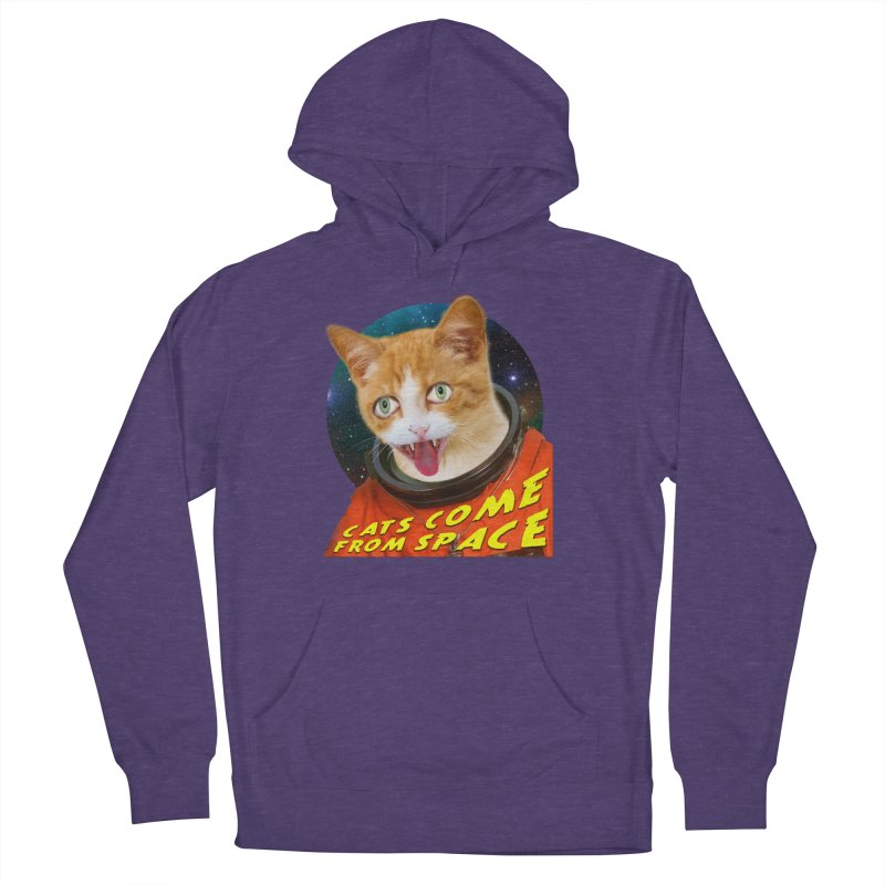 Cats Come From Space Women's French Terry Pullover Hoody by The Rake & Herald Online Clag Emporium