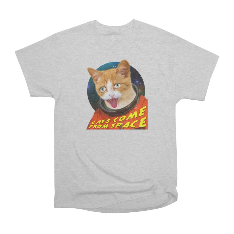 Cats Come From Space Men's Heavyweight T-Shirt by The Rake & Herald Online Clag Emporium