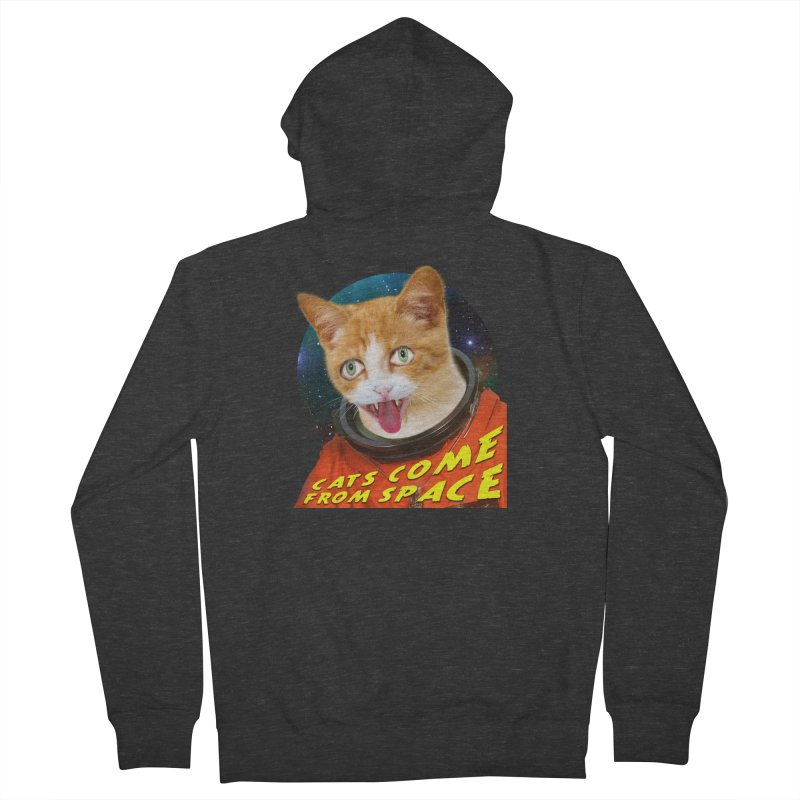 Cats Come From Space Men's French Terry Zip-Up Hoody by The Rake & Herald Online Clag Emporium