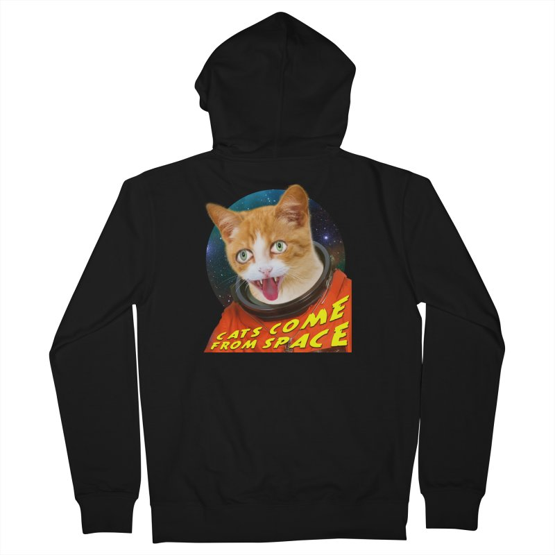 Cats Come From Space Men's Zip-Up Hoody by The Rake & Herald Online Clag Emporium