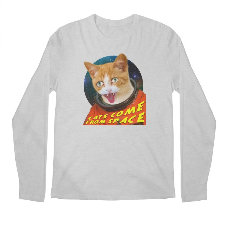 Cats Come From Space Men's Regular Longsleeve T-Shirt by The Rake & Herald Online Clag Emporium