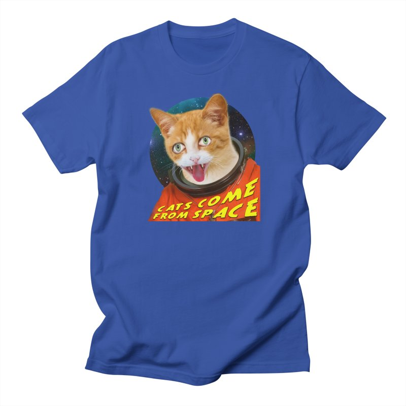 Cats Come From Space Men's Regular T-Shirt by The Rake & Herald Online Clag Emporium