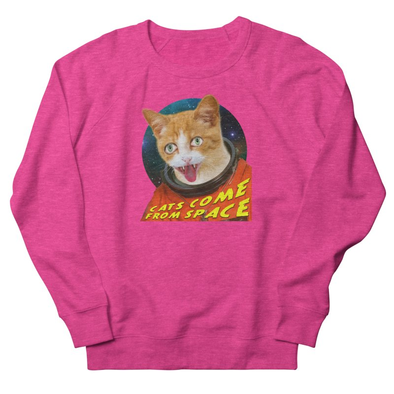 Cats Come From Space Women's Sweatshirt by The Rake & Herald Online Clag Emporium
