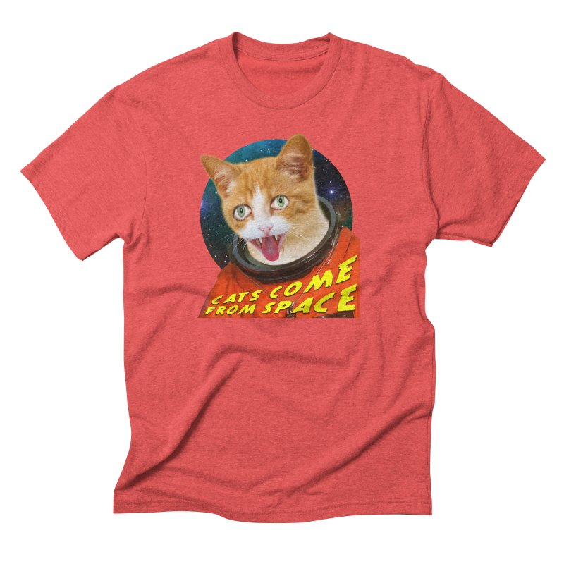 Cats Come From Space Men's T-Shirt by The Rake & Herald Online Clag Emporium