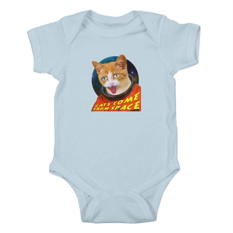 Cats Come From Space Kids Baby Bodysuit by The Rake & Herald Online Clag Emporium