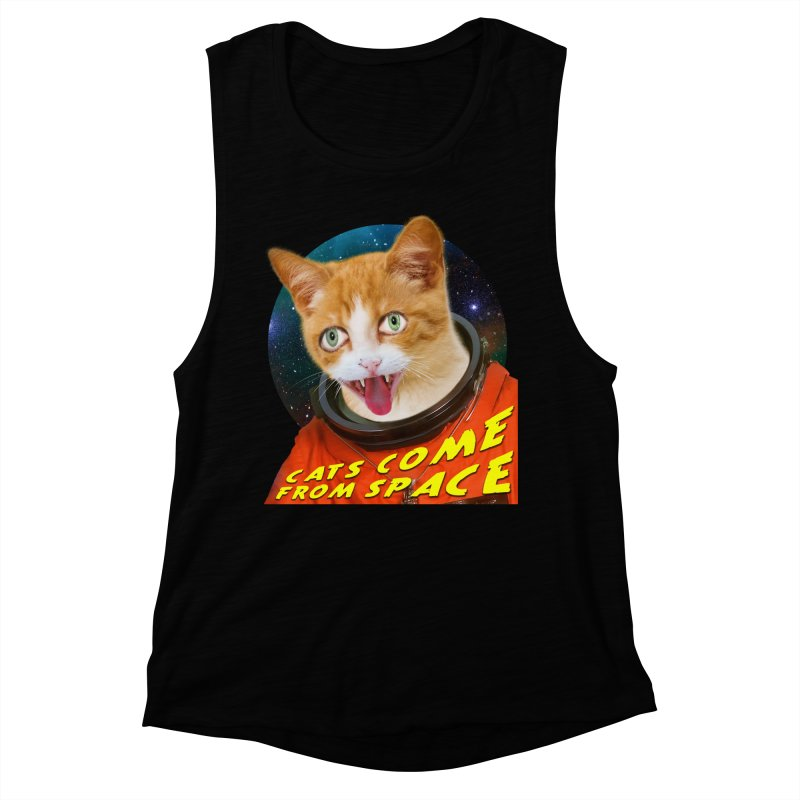 Cats Come From Space Women's Muscle Tank by The Rake & Herald Online Clag Emporium