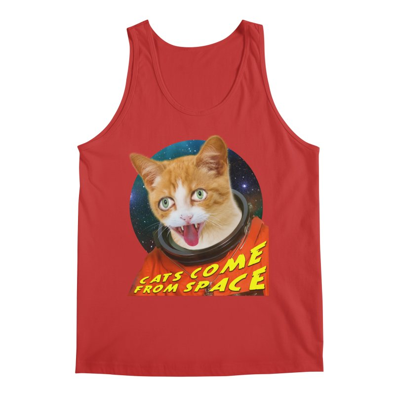 Cats Come From Space Men's Regular Tank by The Rake & Herald Online Clag Emporium