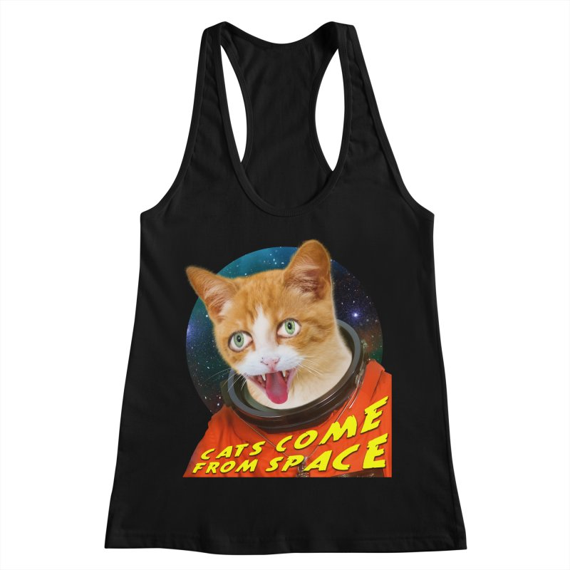 Cats Come From Space Women's Tank by The Rake & Herald Online Clag Emporium