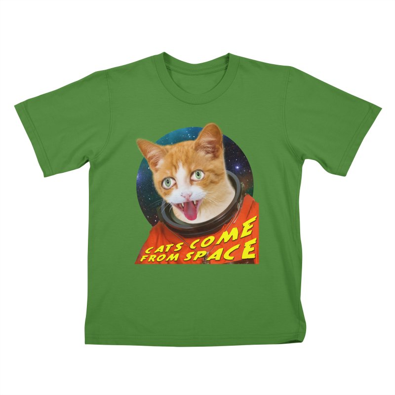 Cats Come From Space Kids T-Shirt by The Rake & Herald Online Clag Emporium