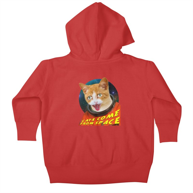 Cats Come From Space Kids Baby Zip-Up Hoody by The Rake & Herald Online Clag Emporium