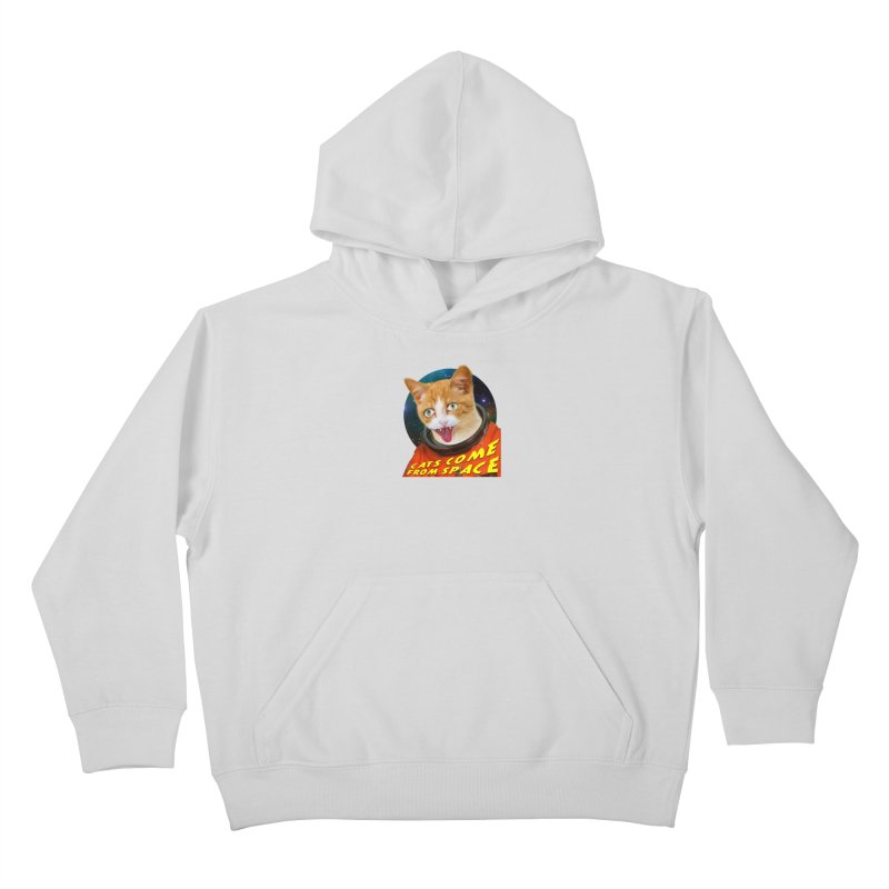 Cats Come From Space Kids Pullover Hoody by The Rake & Herald Online Clag Emporium