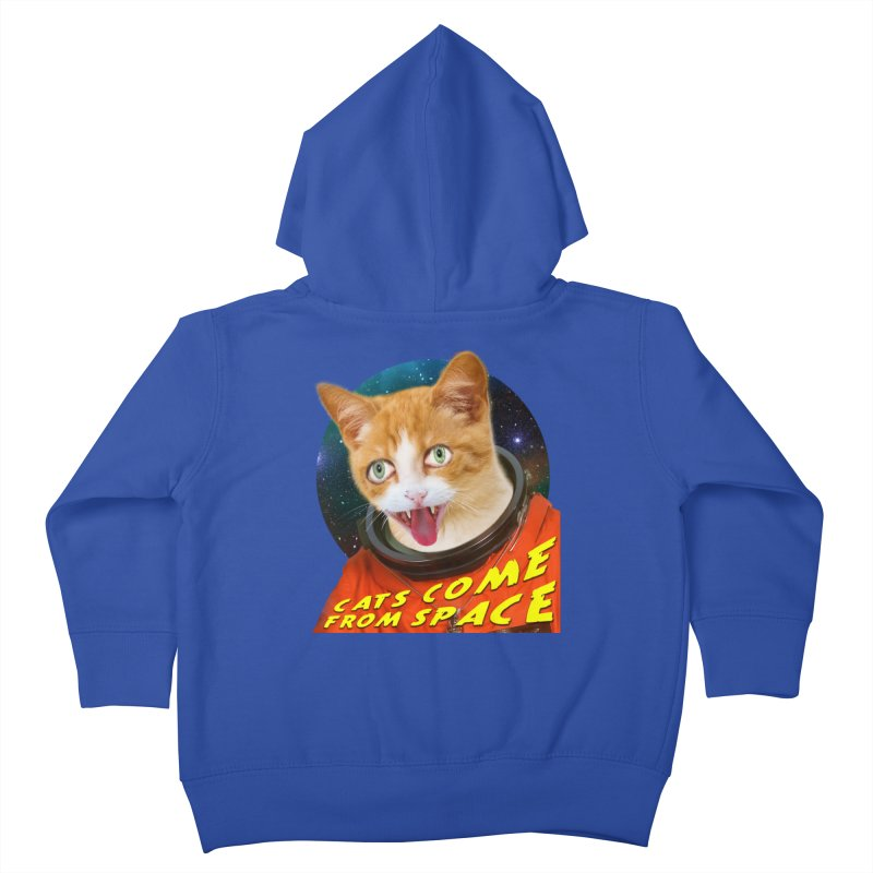 Cats Come From Space Kids Toddler Zip-Up Hoody by The Rake & Herald Online Clag Emporium