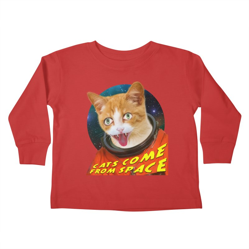 Cats Come From Space Kids Toddler Longsleeve T-Shirt by The Rake & Herald Online Clag Emporium