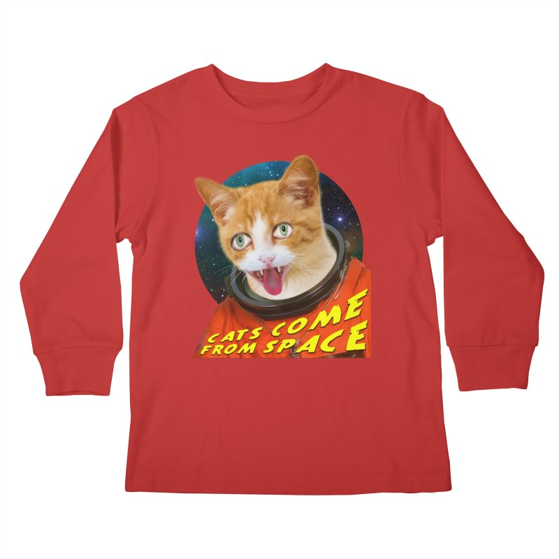 Cats Come From Space Kids Longsleeve T-Shirt by The Rake & Herald Online Clag Emporium