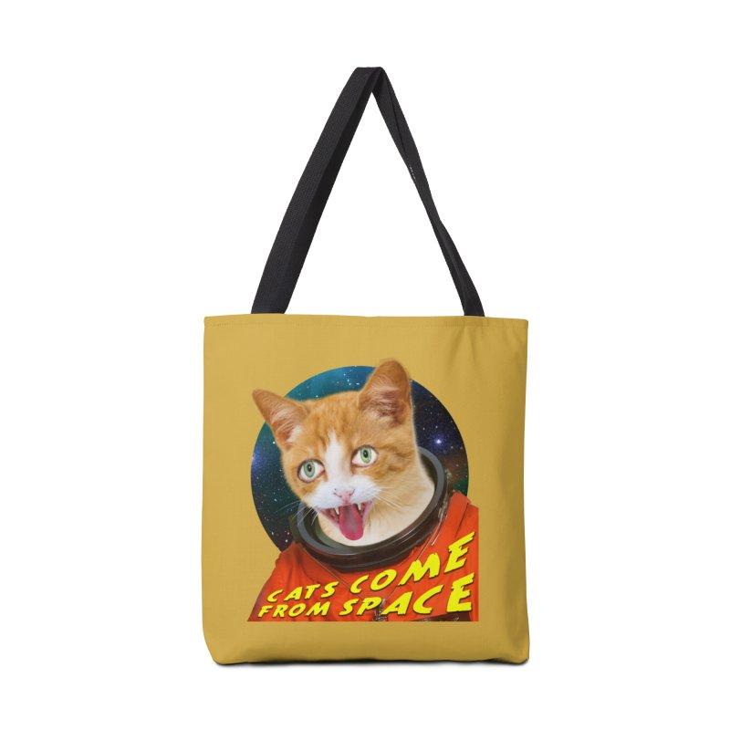 Cats Come From Space Accessories Tote Bag Bag by The Rake & Herald Online Clag Emporium