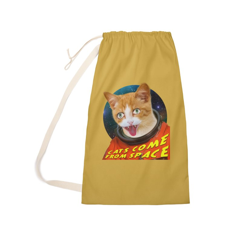 Cats Come From Space Accessories Laundry Bag Bag by The Rake & Herald Online Clag Emporium