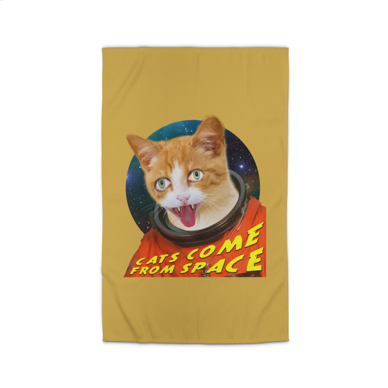 Cats Come From Space Home Rug by The Rake & Herald Online Clag Emporium