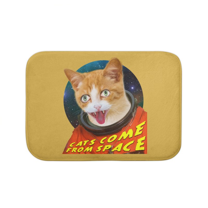 Cats Come From Space Home Bath Mat by The Rake & Herald Online Clag Emporium