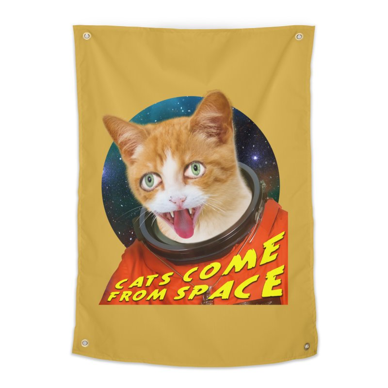 Cats Come From Space Home Tapestry by The Rake & Herald Online Clag Emporium