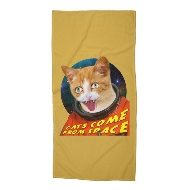 Cats Come From Space Accessories Beach Towel by The Rake & Herald Online Clag Emporium
