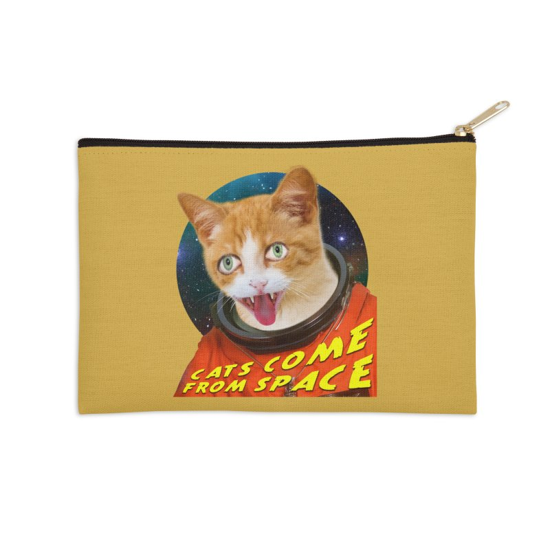 Cats Come From Space Accessories Zip Pouch by The Rake & Herald Online Clag Emporium