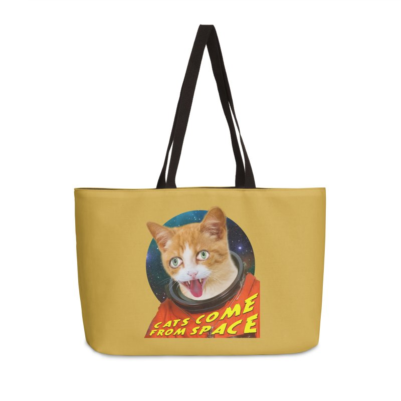 Cats Come From Space Accessories Weekender Bag Bag by The Rake & Herald Online Clag Emporium